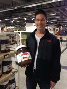 Daniel with Nutella